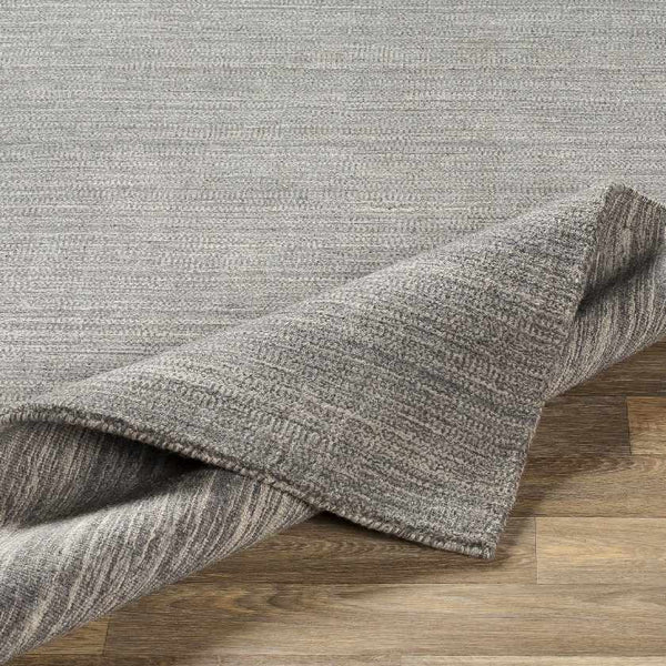 Southport Solid and Border Medium Gray Area Rug