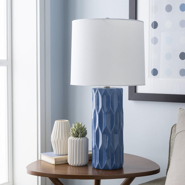 Drabmarkt Modern Bright Blue Table Lamp