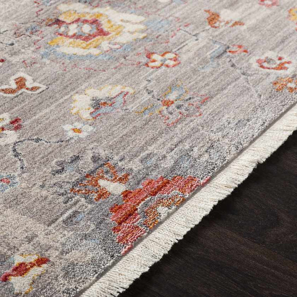 Salvage Updated Traditional Medium Gray Area Rug