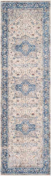 Tilt Cove Updated Traditional Sky Blue Area Rug