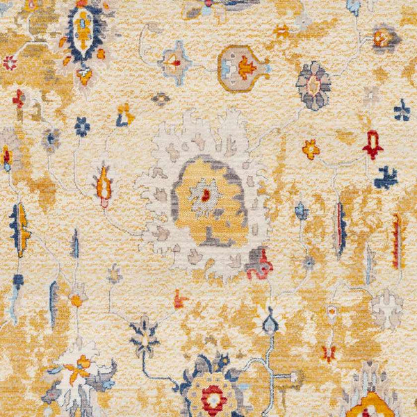Hayum Updated Traditional Saffron Area Rug