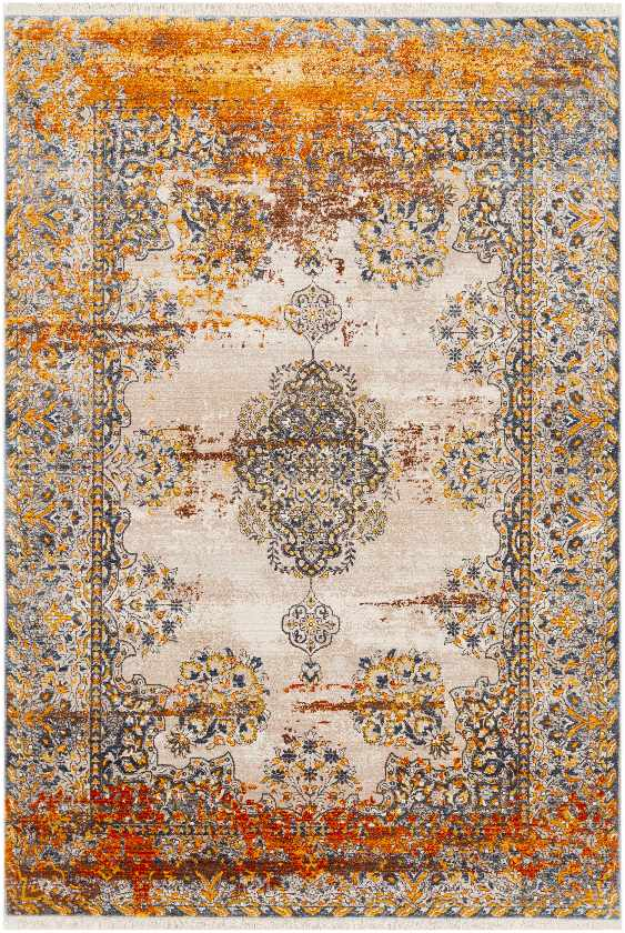 Hee Updated Traditional Saffron Area Rug