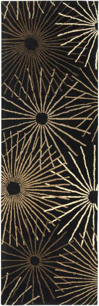 Fox Creek Modern Black Area Rug