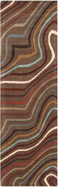 Raymond Modern Dark Red Area Rug