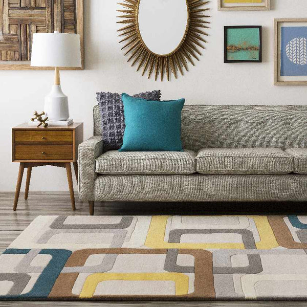 Tofield Modern Dark Green Area Rug