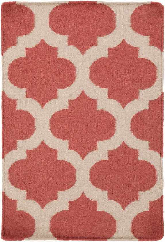 Wigton Transitional Red Area Rug