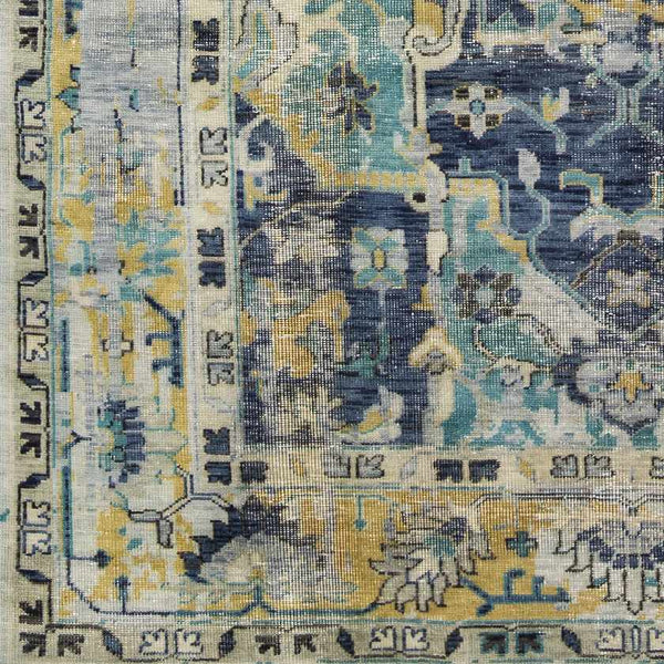 Millau Traditional Navy Area Rug