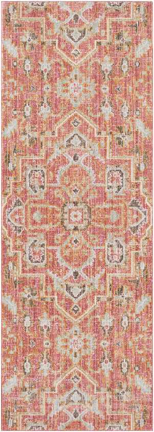 Lievin Updated Traditional Pale Pink Area Rug