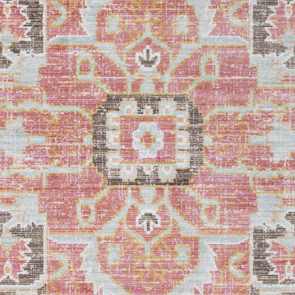 Lievin Traditional Pale Pink Area Rug