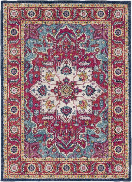 Avondale Updated Traditional Teal Area Rug