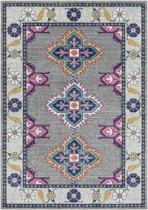 Isla Traditional Area Rug, Blue