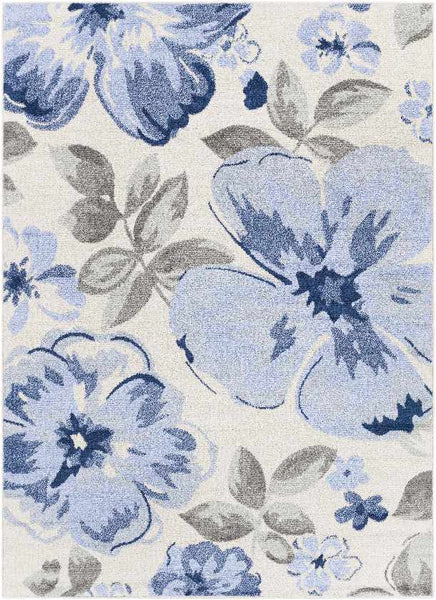 Kuundert Cottage Blue Area Rug