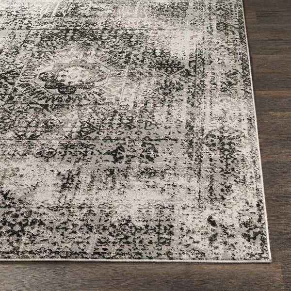 Xebec Traditional Black Area Rug