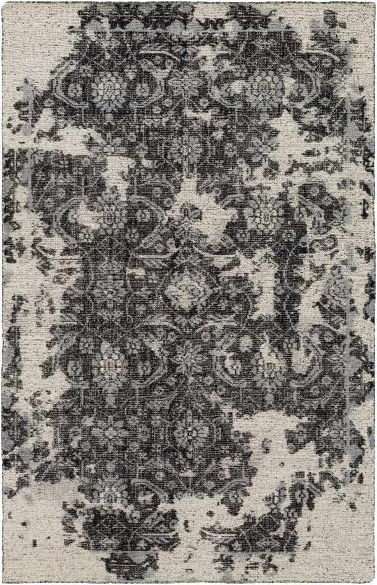 Gerald Updated Traditional Black Area Rug