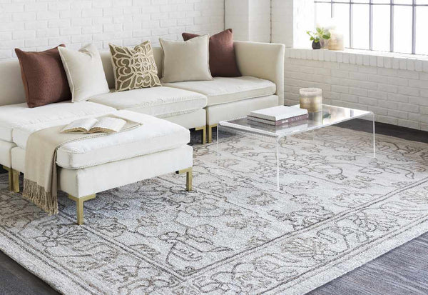 Shifnal Traditional Ivory Area Rug
