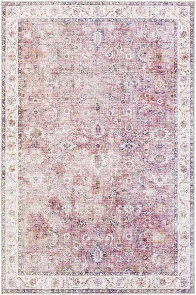 Yonne Traditional Garnet Area Rug