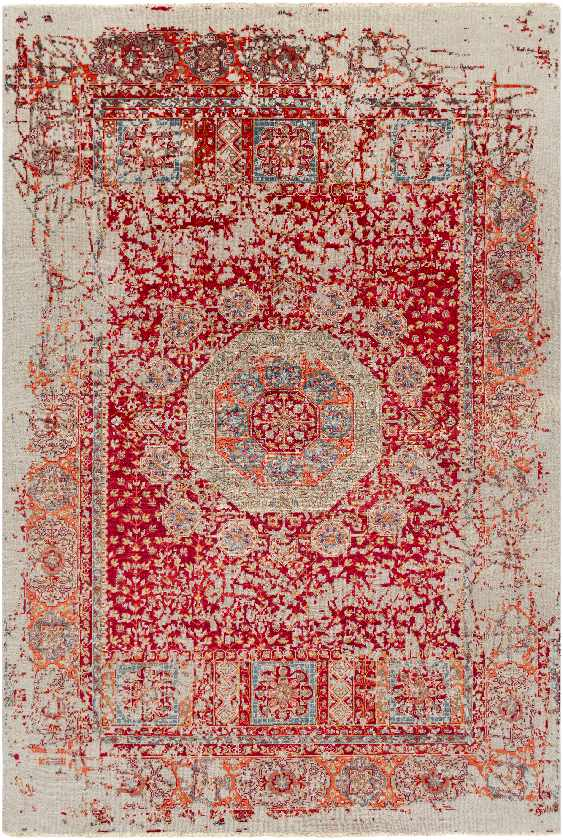 Newhaven Traditional Bright Red Area Rug