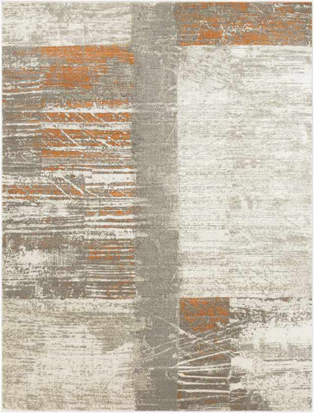Montrouge Modern Burnt Orange Area Rug