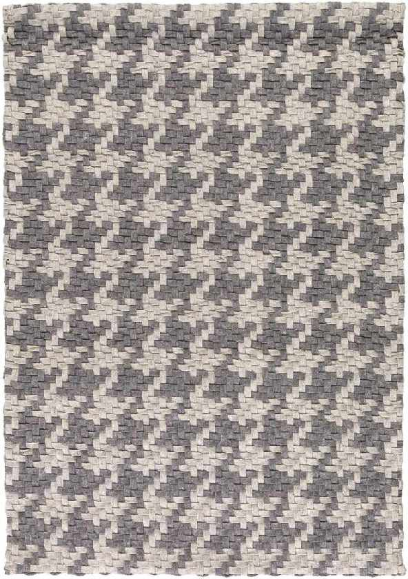Hollypond Texture Charcoal/Light Gray Area Rug