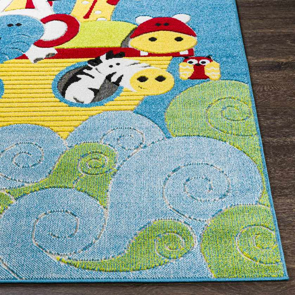 Warm Modern Sky Blue Area Rug