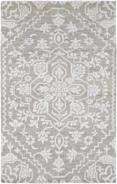 Bedworth Traditional Light Gray Area Rug