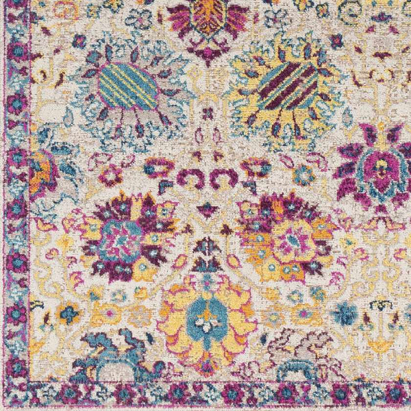 Trenton Traditional Fuschia Area Rug