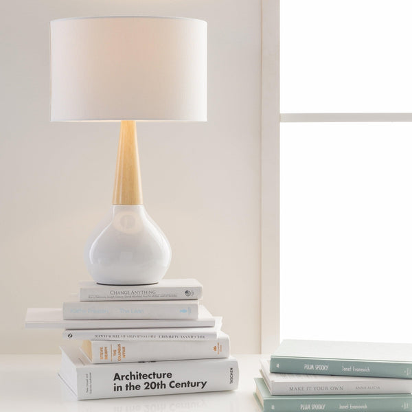 Wolf Modern White Table Lamp