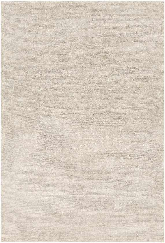 Montrose Solid and Border Khaki Area Rug