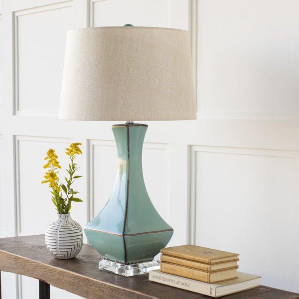 Fischer Traditional Teal Table Lamp