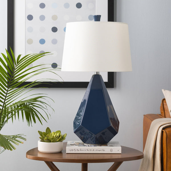Weber Modern Navy Table Lamp