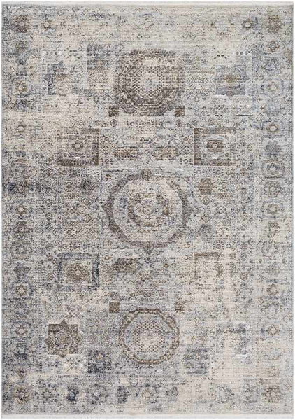 Montlucon Updated Traditional Charcoal Area Rug