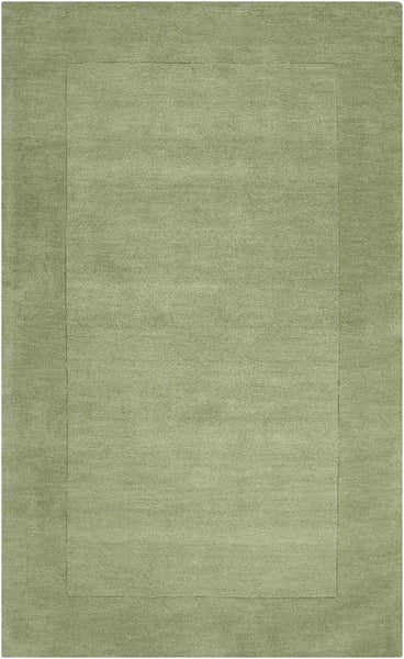 Reims Solid & Border Grass Green Area Rug