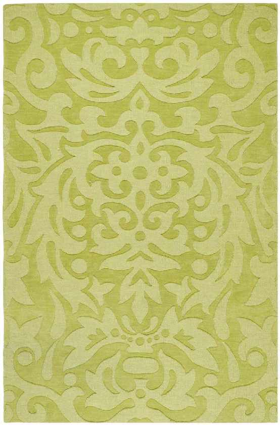 Libertyville Solid and Border Lime Green Area Rug