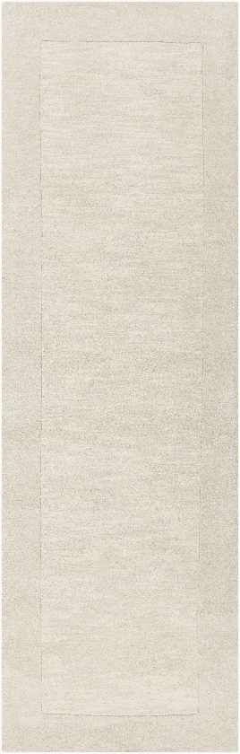 Reims Solid and Border Cream Area Rug