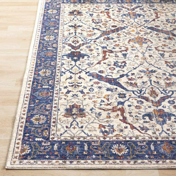 Gage Traditional Navy Area Rug