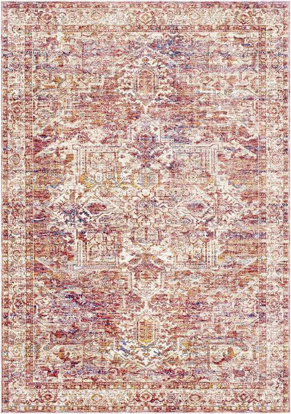 Francois Traditional Rose Area Rug
