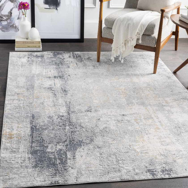 Grayson Modern Light Gray Area Rug