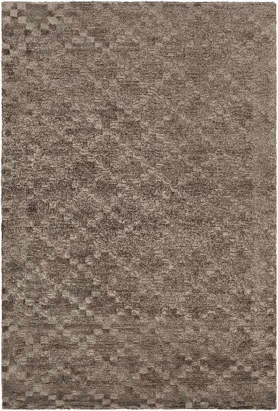 Blackpool Solid and Border Khaki Area Rug
