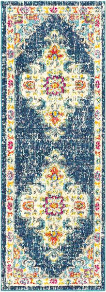 Miya Traditional Teal Area Rug