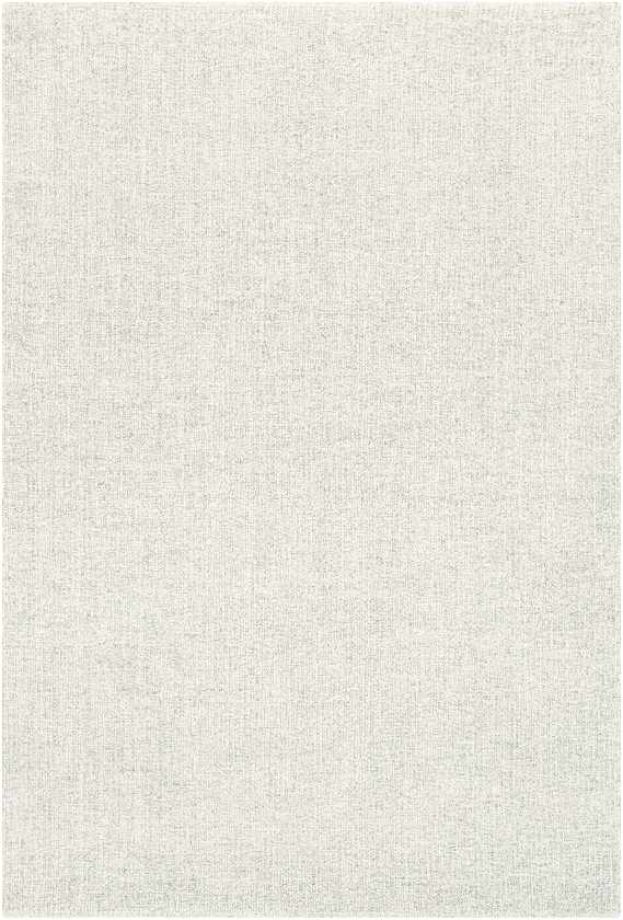 Giles Solid and Border White Area Rug