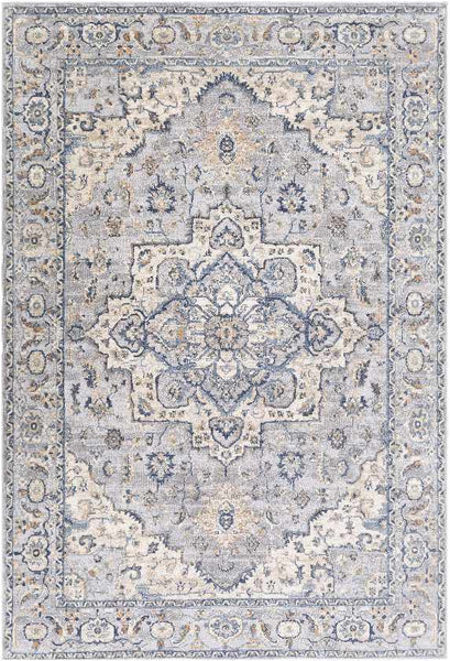Raunds Traditional Dark Blue Area Rug