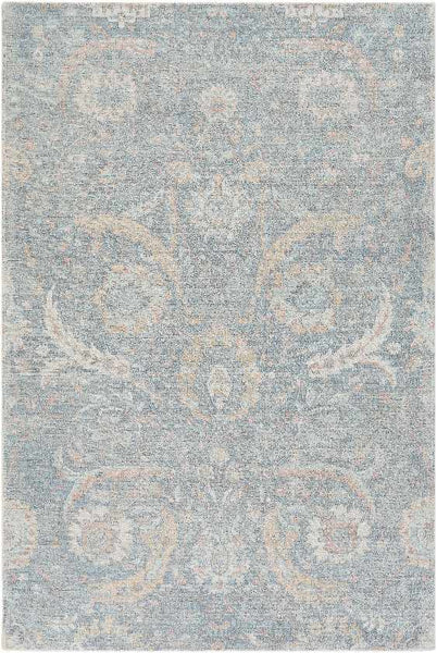Redhill Traditional Sky Blue Area Rug