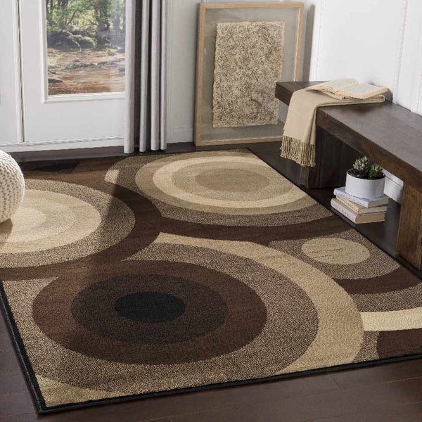 Gibsons Modern Dark Brown Area Rug
