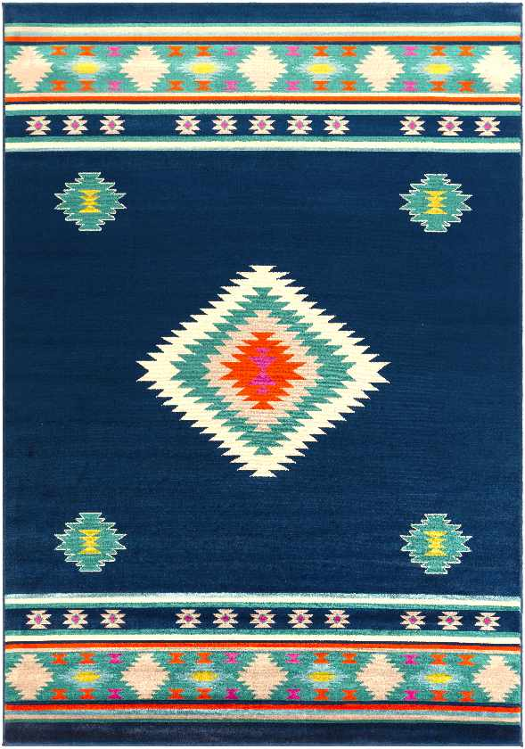 Oxbow Bohemian/Global Dark Blue Area Rug