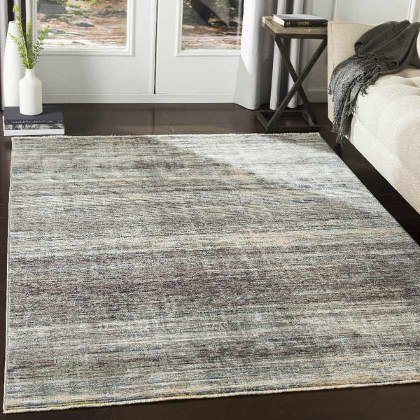 Jousterp Modern Medium Gray Area Rug