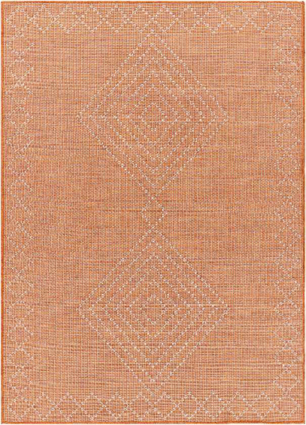 Craailo Modern Bright Orange Area Rug