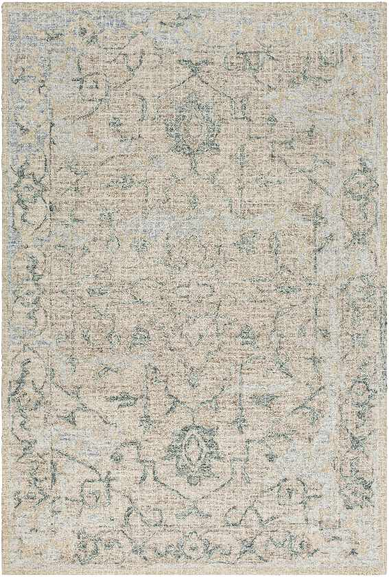 Suzette Traditional Dark Green Area Rug