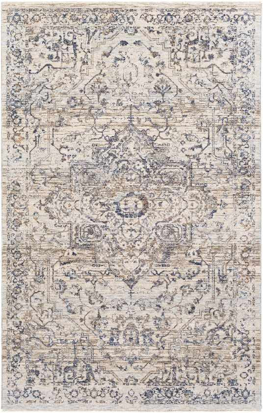 Annecy Traditional Navy Area Rug