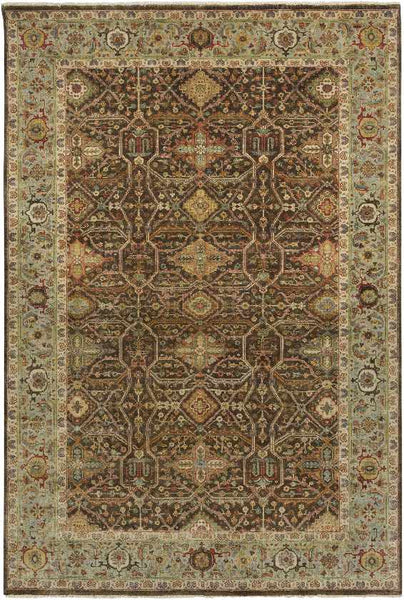 Reigate Traditional Dark Brown Area Rug