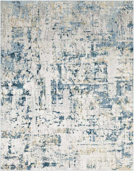 David Updated Traditional Dark Blue Area Rug